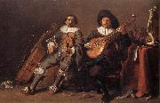 SAFTLEVEN, Cornelis The Duet af oil painting artist