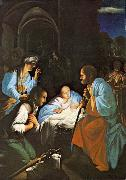 SARACENI, Carlo The Birth of Christ  f oil painting picture wholesale