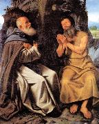 SAVOLDO, Giovanni Girolamo St Anthony Abbot and St Paul oil painting picture wholesale