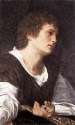 SAVOLDO, Giovanni Girolamo Bust of a Youth sg oil painting artist