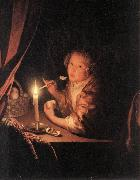 SCHALCKEN, Godfried Girl Eating an Apple sg oil painting picture wholesale