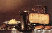 SCHOOTEN, Floris Gerritsz. van Still-life with Glass, Cheese, Butter and Cake A oil painting picture wholesale