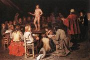 SWEERTS, Michiel The Drawing Class ear oil painting artist