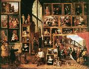 TENIERS, David the Younger The Gallery of Archduke Leopold in Brussels at Spain oil painting reproduction