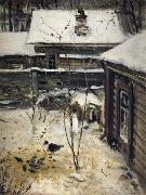 A.K.Cabpacob Yard-Winter oil painting picture wholesale
