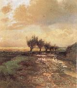 Alexei Savrasov A Country Road oil painting artist