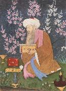Ali of Golconda Poet in a garden oil painting artist