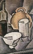 Juan Gris Winebottle and kettle of tile oil painting picture wholesale