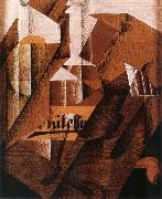 Juan Gris The still life having bottle oil painting picture wholesale