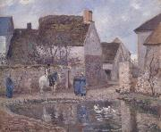 Camille Pissarro The pond at Ennery oil painting picture wholesale
