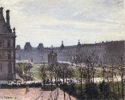 Camille Pissarro The Carrousel,autumn morning oil painting picture wholesale