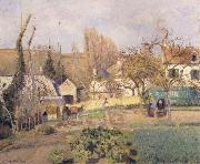 Camille Pissarro Kitchen garden at L-Hermitage,Pontoise jardin potager a L-Hermitage,Pontoise oil painting picture wholesale