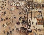 Camille Pissarro La Place du Theatre Franqais oil painting picture wholesale