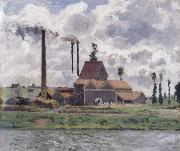 Camille Pissarro Factory near Pontoise Usine pres de Pontoise oil painting picture wholesale
