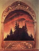 Caspar David Friedrich Kreuz im Gebirge,Teschener Altar oil painting picture wholesale
