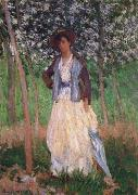 Claude Monet Taking a Walk oil painting reproduction
