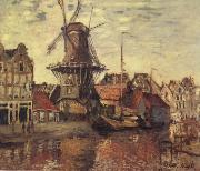 Claude Monet THe Windmill on the Onbekende Gracht oil painting picture wholesale