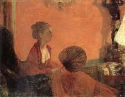Edgar Degas Madame Camus en rouge oil painting reproduction