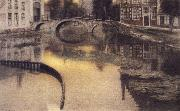 Fernand Khnopff Memory of Bruges,The Entrance of the Beguinage oil painting picture wholesale