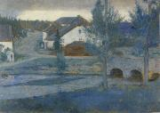 Fernand Khnopff In Fosset The Entrance to the village oil painting picture wholesale