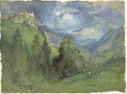 George Inness Castle in Mountains oil painting picture wholesale