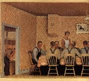 Grant Wood The Thresher-s supper oil painting picture wholesale