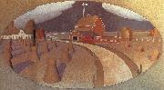 Grant Wood Farm View oil painting picture wholesale