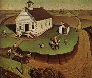Grant Wood The day of Planting oil painting picture wholesale