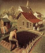 Grant Wood Town Spring oil painting picture wholesale