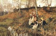 Hector Caffieri The Primrose Gatherers oil painting artist