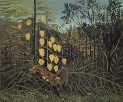 Henri Rousseau In a Tropical Forest.Struggle between Tiger and Bull oil painting picture wholesale