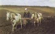Ilya Repin A Ploughman,Leo Tolstoy Ploughing oil painting picture wholesale