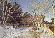 Isaac Levitan March oil painting picture wholesale