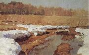Isaac Levitan Spring,The Last Snow oil painting picture wholesale