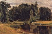 Ivan Shishkin The Pond in the old Flower gardens oil painting artist