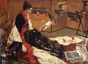 James Abbot McNeill Whistler Caprice in Purple and Gold oil painting artist