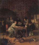 Jan Steen Backgammon Playersl oil painting picture wholesale