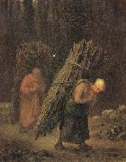 Jean Francois Millet Peasant Women Carrying Faggots oil painting artist