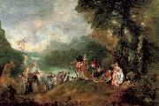 Jean-Antoine Watteau Pilgrimage to the island of cythera oil painting picture wholesale