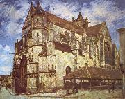 Jean-Antoine Watteau The church at Moret,Evening oil painting picture wholesale