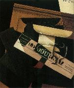 Juan Gris The Still life having the fruit dish and newspaper oil painting picture wholesale