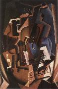 Juan Gris Still life fiddle and newspaper oil painting picture wholesale