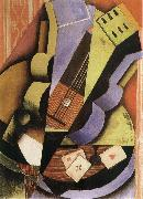 Juan Gris Three Playing card oil