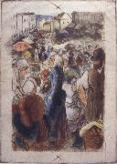 Camille Pissarro Market at Gisors rue Cappeville oil painting picture wholesale
