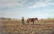 Mikhail Klodt In the Ploughed Field oil painting picture wholesale