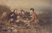 Perov, Vasily Hunters at Rest oil painting artist