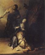 REMBRANDT Harmenszoon van Rijn Samson Betrayed by Delilah oil painting picture wholesale