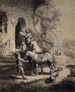 REMBRANDT Harmenszoon van Rijn The Good Samaritan oil painting picture wholesale