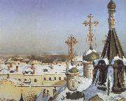 Sergei Svetoslavsky View from the Window of the Moscwo College of Painting oil painting artist