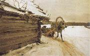 Valentin Serov In Winter oil painting picture wholesale